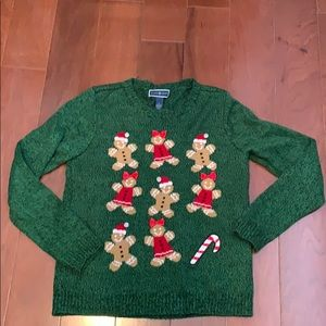 Ugly Christmas sweater gingerbread people